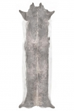 cutout image of Super Long Stretched Cowhide - Bleached - Small on white background