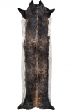 cutout image of Super Long Stretched Cowhide - Natural Brown - Small on white background
