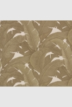 square detail image of Teide Tropical Leaves Wallpaper - Darks 04 - SAMPLE palm leaves on pale background repeated pattern