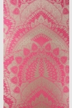 detail image of Matthew Williamson Azari Wallpaper - Fuchsia Pink W6952-01 - ROLL pink and gold mandala repeated pattern