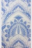 detail image of Matthew Williamson Azari Wallpaper - Lavender Purple W6952-04 - ROLL purple silver mandala repeated pattern