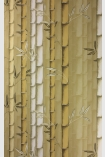 detail image of Osborne & Little Bamboo Wallpaper - Sand W7025-02 - ROLL different sand tones bamboo stems repeated pattern