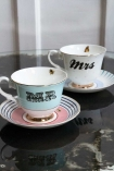 Image of the Mr & Mrs Teacup & Saucer Set