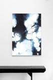 angelica art print blue white lifestyle image