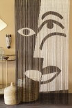 Lifestyle image of the Black & White Design Bamboo Door Curtain