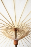 detail image of underneath of Boho Beaded Cotton Garden Umbrella