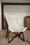 Lifestyle image of the Booby Lady Butterfly Deck Chair