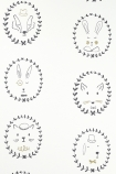 Close-up detail image of Hibou Home Picture Perfect Portraits Children's Wallpaper