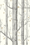 Cole & Son Whimsical Collection - Natural Woods & Stars Wallpaper - 4 Colours Available