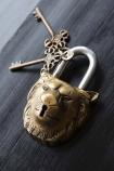 Decorative Gold Lion Padlock