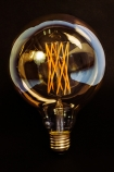 detail image of E27 Dimmable 6W Tinted LED Giant Globe Bulb with black background