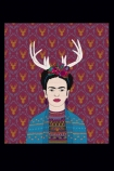 cutout image of Unframed Frida Fine Art Print on black background