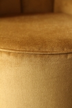 detail image of the seam on Gallery Velvet Cocktail Chair - Golden Glow