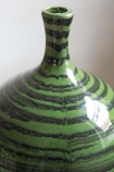 Close-up image of the neck on the Glazed Green Bottleneck Vase