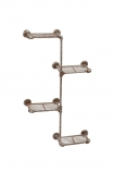 cutout image of Industrial Shelving - 4 Tier Unit on white background