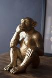 Large Speak No Evil Gold Monkey Ornament
