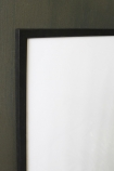 detail image of Large Black Wooden Frame - 30cm X 40cm on dark grey wall background