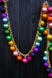 Lifestyle image of the Large Rainbow Baubles & Tinsel Garland