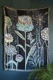 Lucy Tiffney Stunning Allium Cotton Throw hanging on the wall