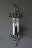 Metal Filigran Candle Wall Sconce