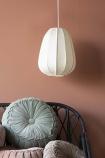 Lifestyle image of the Natural White Fabric Shanghai Style Pendant Light