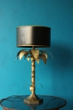Palm Tree Table Lamp lifestyle blue background