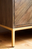 Close-up image of a leg on the Parquet Style Wooden Sideboard Unit