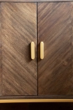 Image of both doors closed on the Parquet Style Wooden Sideboard Unit