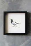 lifestyle image of Pigeon Post Messenger - Bring More Wine. X Art Work By Brigitte Herrod on distressed grey wall background
