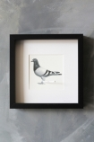 lifestyle image of Pigeon Post Messenger - I Love You. Xxx Art Work By Brigitte Herrod on distressed grey wall background