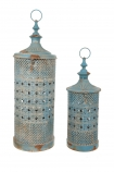 Set Of 2 Rhiad Blue Lanterns cutout image