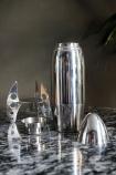 Rocket Cocktail Shaker taken apart on marble effect table top detail image