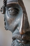 Close-up image of the Antique Bronze Broken Statue Ornament