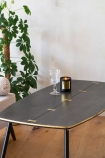 Close-up image of the Black Art Deco Mid-Century Modern Coffee Table