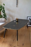 Image of the Black Art Deco Mid-Century Modern Coffee Table