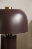Close-up image of the shade on the Burgundy Red Retro Cylinder Table Lamp