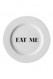 Image of the Eat Me Fine China Plate on a white background