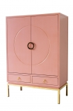Angled image of the Fabulous Pink Drinks Cabinet on a white background