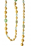 Image of the Gold & Green Glass Garland on a white background