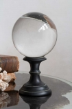 Close-up image of the Crystal Ball Ornament Displayed On A Small Base