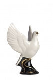Cutout image of the Hand Painted UK Made White Dove Symbol Of Peace Candle Holder