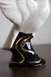 Close-up image of the base on the Hand Painted UK Made White Dove Symbol Of Peace Candle Holder