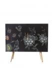 Front on image of the Hand-Painted Dark Florals Sideboard on a white background
