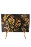 Front on image of the Hand-Painted Tropical Leaf Sideboard on a white background