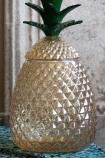 Close-up image of the Glass Pineapple Storage Vase