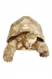 Front-on cutout image of the Gold Tortoise Ornament on a white background