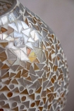 Close-up of the mosaic detail on the Mosaic Vase Table Lamp