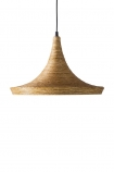 Cutout image of the Natural Texture with Gold Interior Ceiling Light - Drop Design