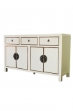 Angled image of the Oriental Gloss White Sideboard on a white background