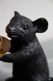 Close-up image of the other Black Mouse Candle Holder